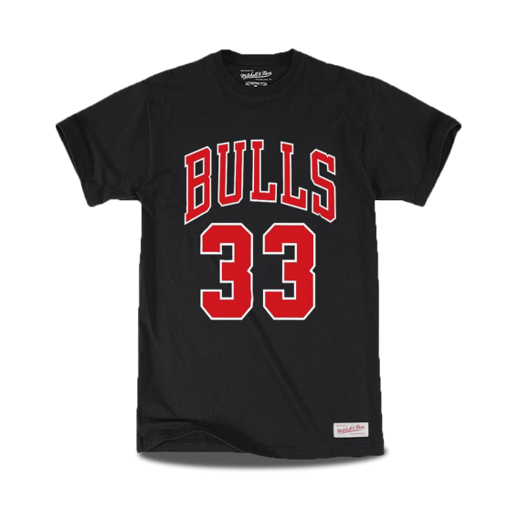camiseta mitchell ness scottie pippen chicago bulls name and number Tiro Libre SCQ