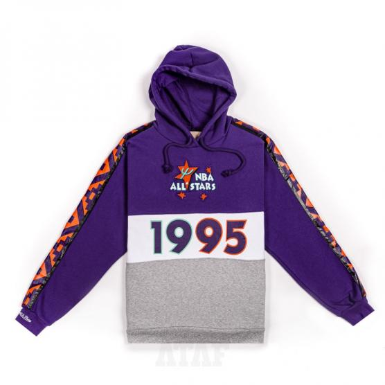 mitchell ness nba all star sweatshirt leading scorer fleece hoody purple