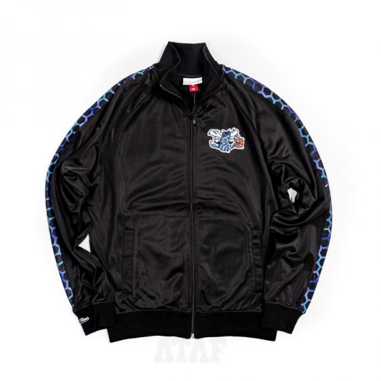 mitchell ness nba charlotte hornets track jacket black