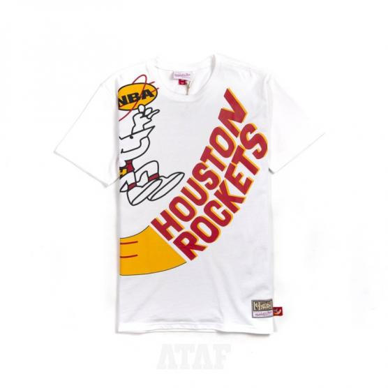 mitchell ness nba houston rockets big face ss tee white