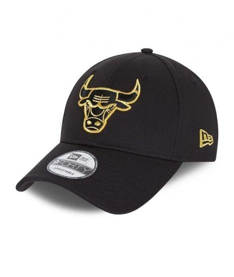 new era gorra chicago bull metallic 9forty 60112676 negra